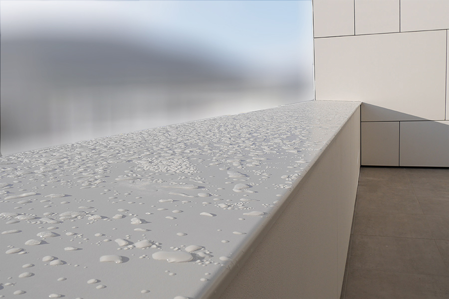 mauerabdeckungen helopal puritamo fenorm. Black Bedroom Furniture Sets. Home Design Ideas